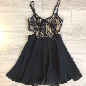 Nastygal by Mustard Seed lace up flare dress